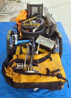 HK: Solatrike und Gepäck kompakt