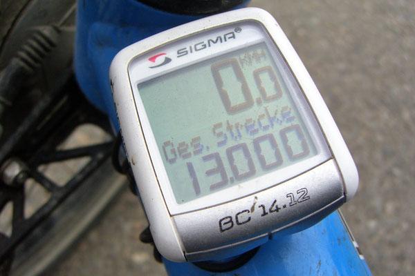 IR: 13'000 km