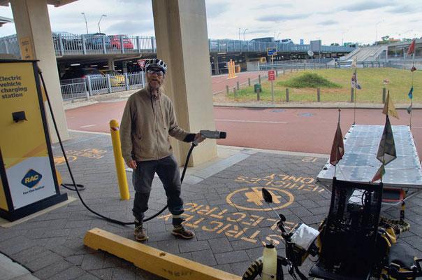 AU: Perth at RAC, pretend to charge energy (Photo: Tom Hogarth)