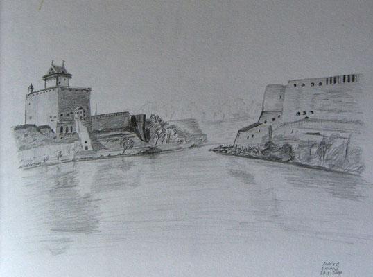 072.Skizze, Narva /Estland