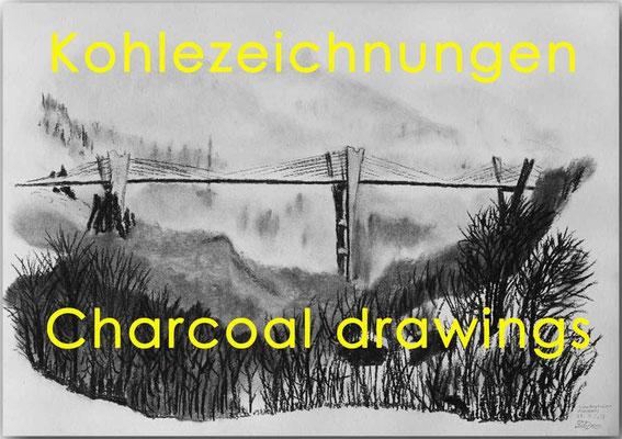 Kohlezeichnungen / Charcoal drawings