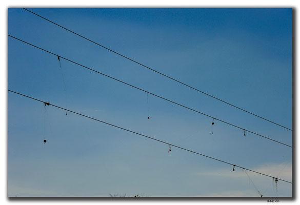 KZ0124.Angelhaken auf Stromleitungen