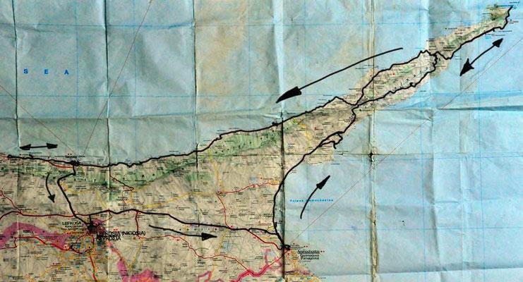 Nordzypern Rundfahrt