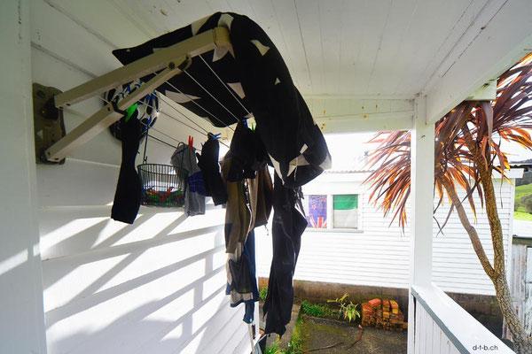 NZ: Nasse Sachen trocknen