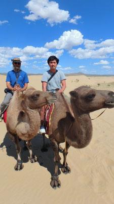 """Mongolei, Elsen Tasarkai, Kamelreiten in der """"kleinen Gobi"""""""
