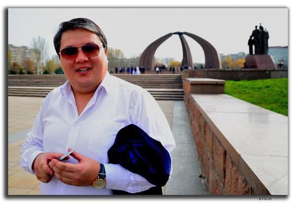 KG0022.Bishkek.WWII Monument.Portrait of a Kyrgyz