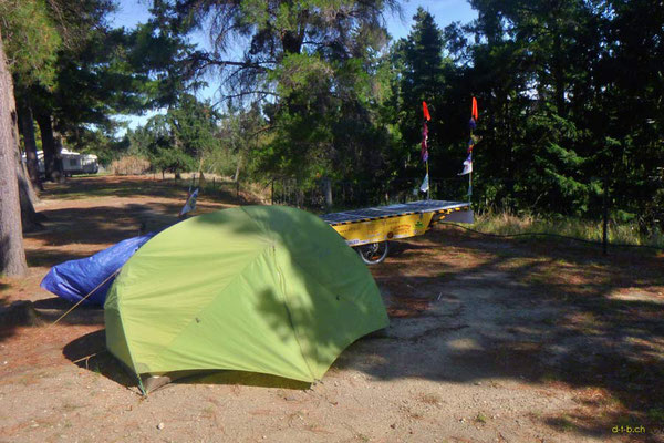 NZ: Solatrike in Clyde Camping