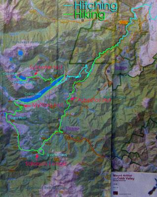 Karte: Kahurangi N.P.1 Rundwanderung