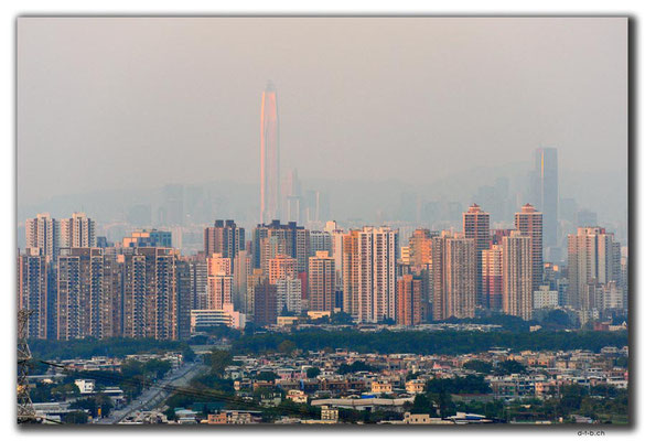 HK0036.Aussicht nach Shenzhen