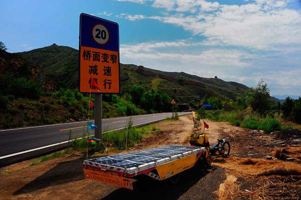 CN.Solatrike an der Grossen Mauer in Hebei