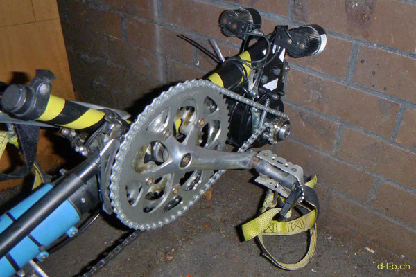 NZ: Solatrike Vordermotor mit Kette verbunden
