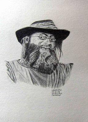 058.Skizze, Selbstbildnis von Bild aus Panama