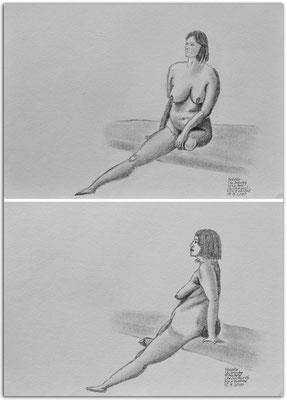 251.Skizzen.Life Drawing.short poses.Natalie.Christchurch.New Zealand