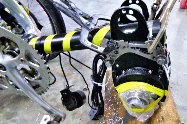 NZ: Solatrike neuer Vordermotor Montage bei LS Engineering