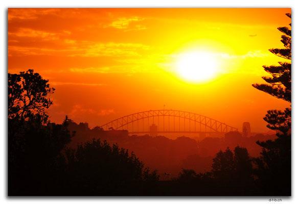 AU1626.Sydney. Harbour Bridge from Bondi
