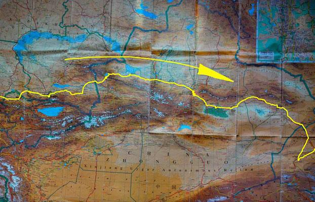 Übersichtskarte China 1 - Map China 1