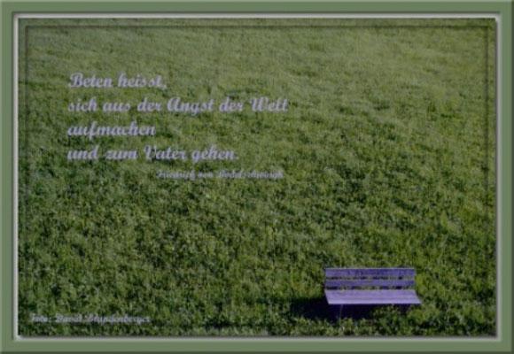 S0036 Bank,Klosters,CH. Text: Friederich von Bodelschwingh