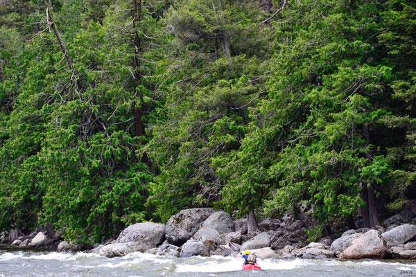 CA0258 Similkameen River Kanufahrer