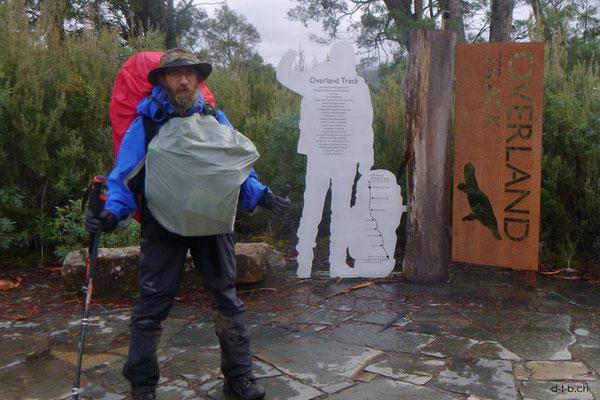 Australien.Tasmanien.Ende des Overland Track.