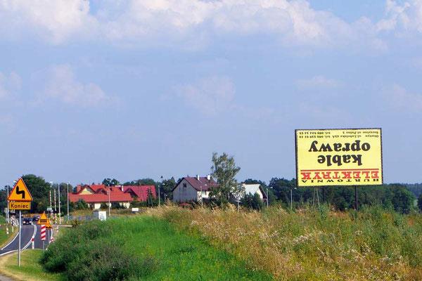 Polen.Verkehrtes Schild - muss wohl so sein