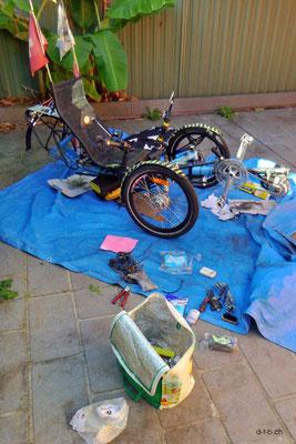 AU: Solatrike in Sydney. Reparaturen und Reinigung