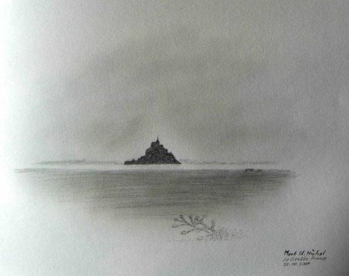 081.Skizze, Mont St.Michel de Genêtes /France