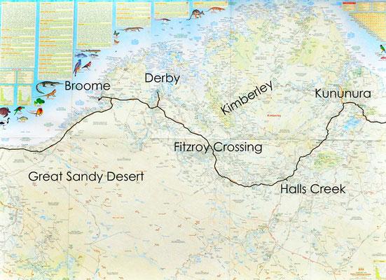 Karte: Kimberley2 (Kununurra - Sandfire Roadhouse)