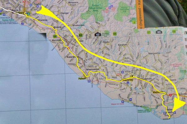 Tag 485: Hawera - Waiinu Beach
