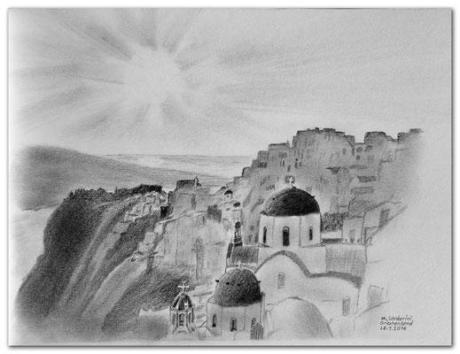 149.Skizze.IA.Santorini.Greece