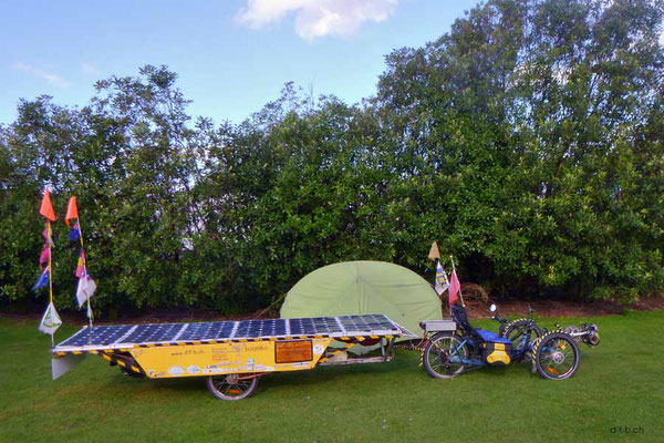 NZ: Solatrike in Invercargill, Campingplatz