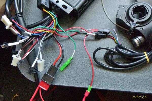 NZ: Solatrike, neuer Vordermotor, Kabel verbunden