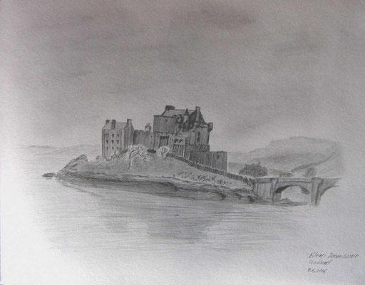 065.Skizze, Eilean Donan Castle /Schottland