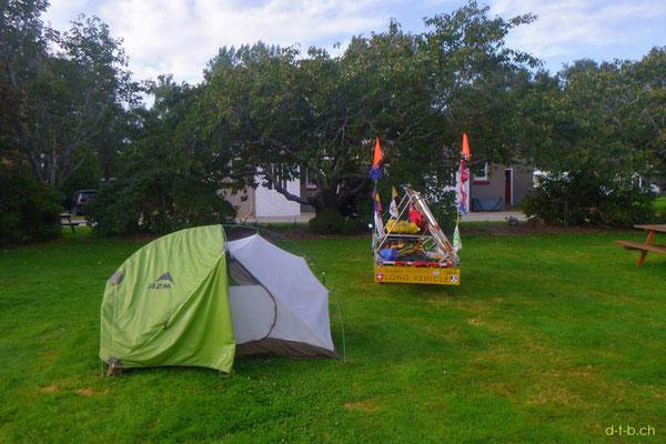 NZ: Solatrike in Gore Camping
