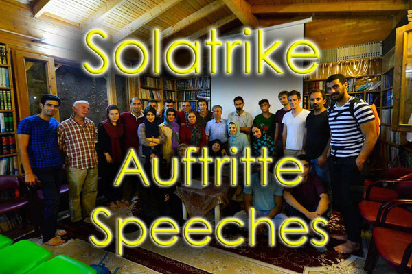 Solatrike Auftritte, Speeches