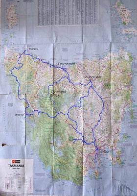Tasmania ohne Trike