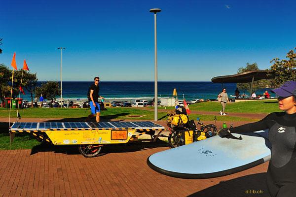 AU: Solatrike in Sydney beim Bondi Beach