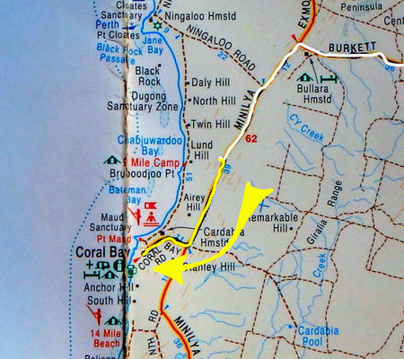 Tag 329: Ningaloo Parkplatz - Coral Bay
