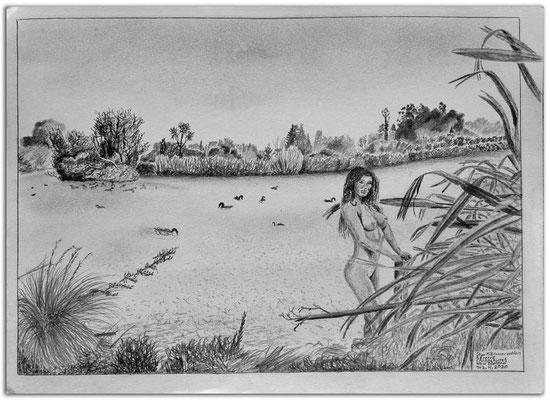 244.Skizze.Styx Mill Conservation Reserve.Christchurch.New Zealand