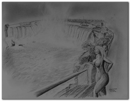128.Skizze.Niagara Falls,Canada