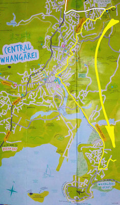 Unterkunftswechsel in Whangarei