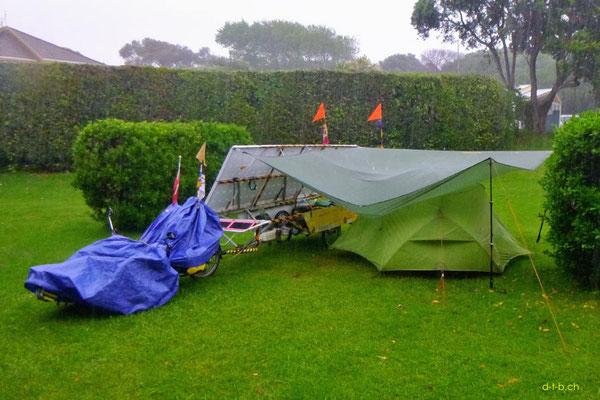 NZ: Solatrike im Camping Paekakariki
