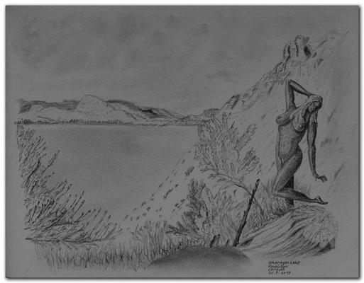 126.Skizze.Okanagan Lake.Penticton.Canada