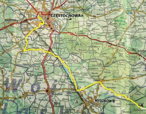 Tag 6: Podlesice - Czestochowa