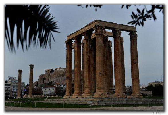 GR0407.Athen.Zeustempel und Akropolis