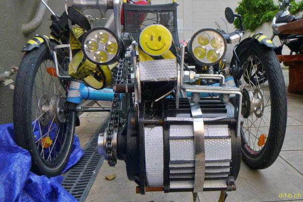 NZ: Solatrike mit neu positionierten Vorderlichter