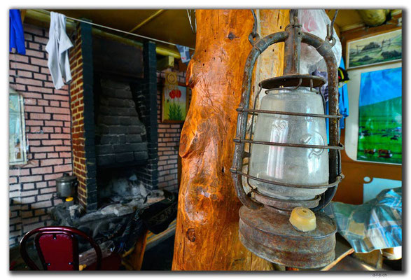 Kyrgyzstan.Altyn Arashan.Lampe aus der Sowjetzeit