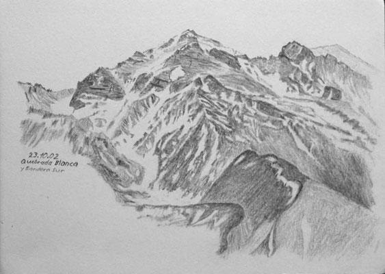 004.Skizze, Quebrada Blanca y Bandera Sur /Argentinien