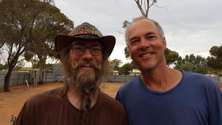 Australien.Port Augusta.David und Sigi (Foto: Christa)