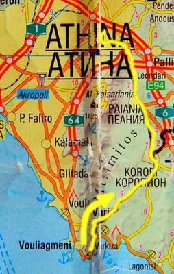 Tag 110: Varkiza - Chalandri (Athen)
