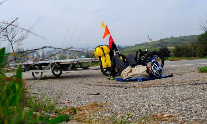 Solatrike V2, am Berg hängen geblieben.